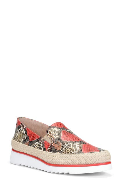 Image of Donald Pliner Finni Snakeskin Print Leather Slip-On Sneaker