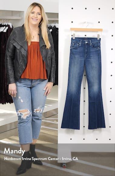 High Waist Fray Hem Bootcut Jeans, sales video thumbnail