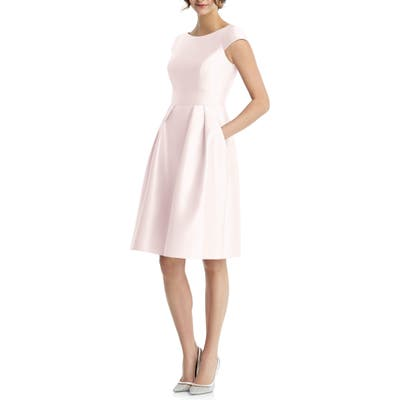 Alfred Sung Cap Sleeve Cocktail Dress, Pink