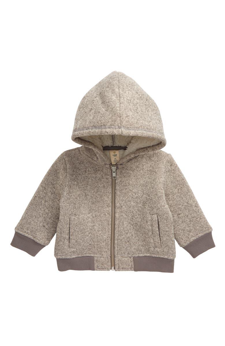 TUCKER + TATE Cozy Fleece Lined Hooded Jacket, Main, color, GREY MEDIUM HEATHER