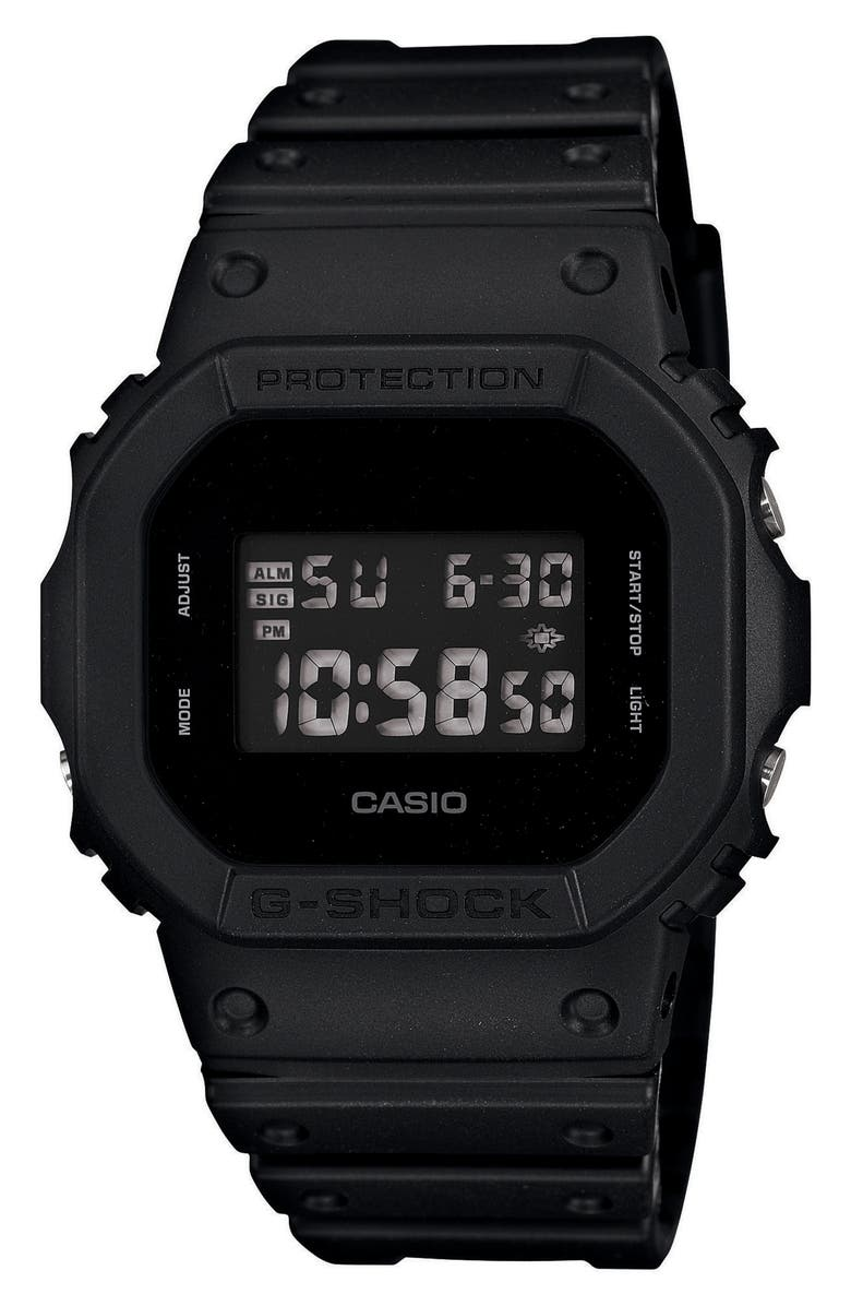G-SHOCK BABY-G G-Shock Square Digital Watch, 48mm, Main, color, BLACK/ GREY