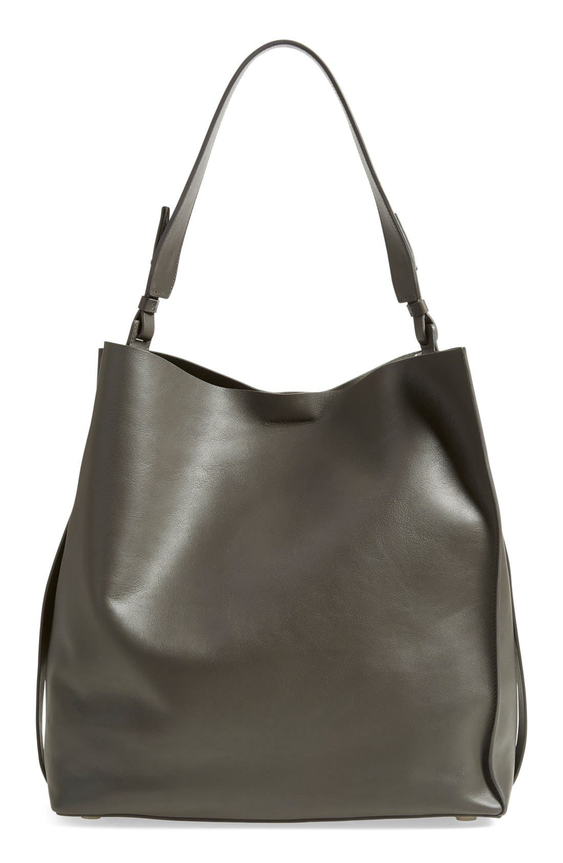 'Paradise North/South' Leather Tote, Main, color, 020