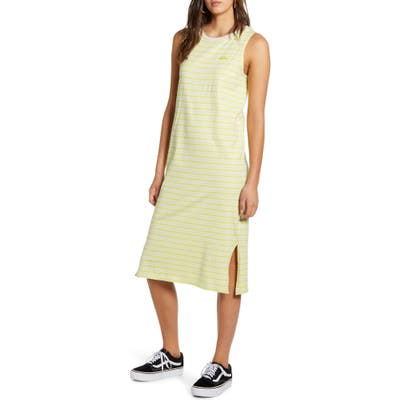 Vans Stripe Sleeveless Midi Tank Dress, Green