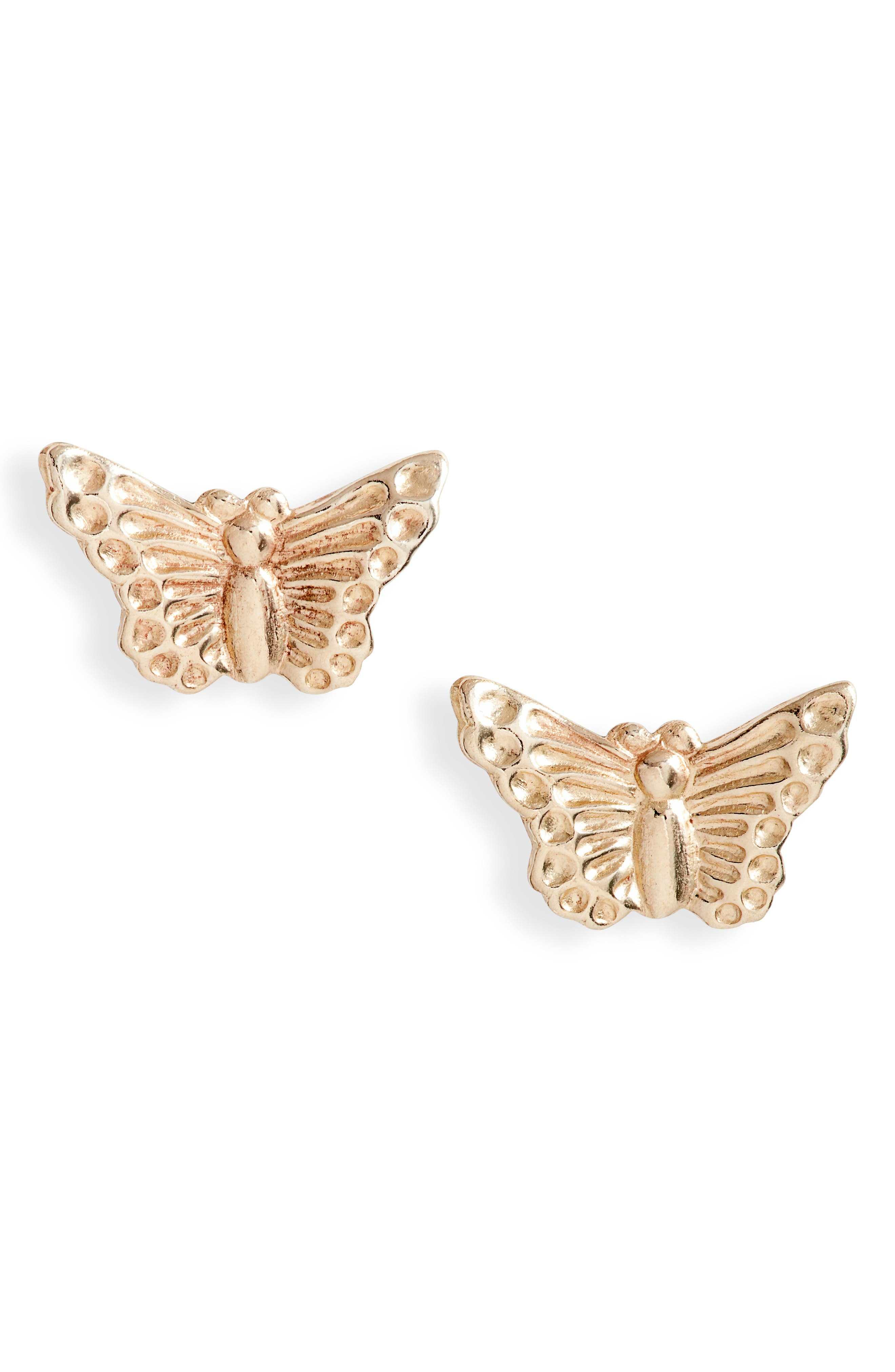 Beautiful butterflies flit on the ears in these whimsical studs that are made in the USA. Style Name: Set & Stones Madi Butterfly Stud Earrings. Style Number: 6093927. Available in stores.