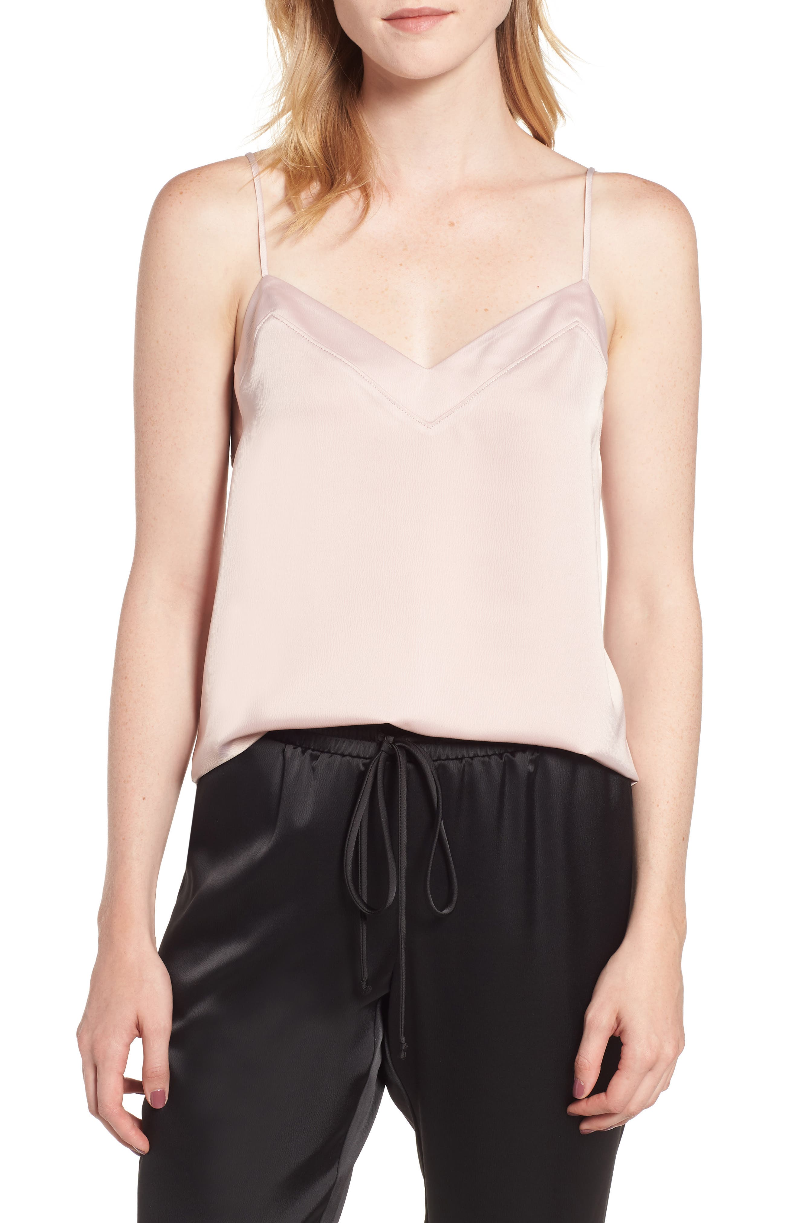 Petite Gibson Satin Camisole, Pink