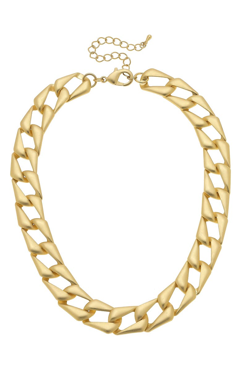 CANVAS JEWELRY Chiara Statement Chain Necklace, Main, color, GOLD