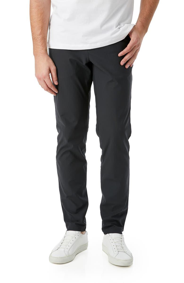 7 DIAMONDS Infinity Slim Fit Pants, Main, color, CHARCOAL