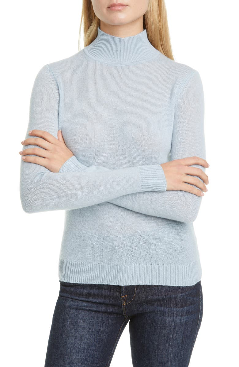 THEORY Turtleneck Cashmere Sweater, Main, color, BLUE SKY
