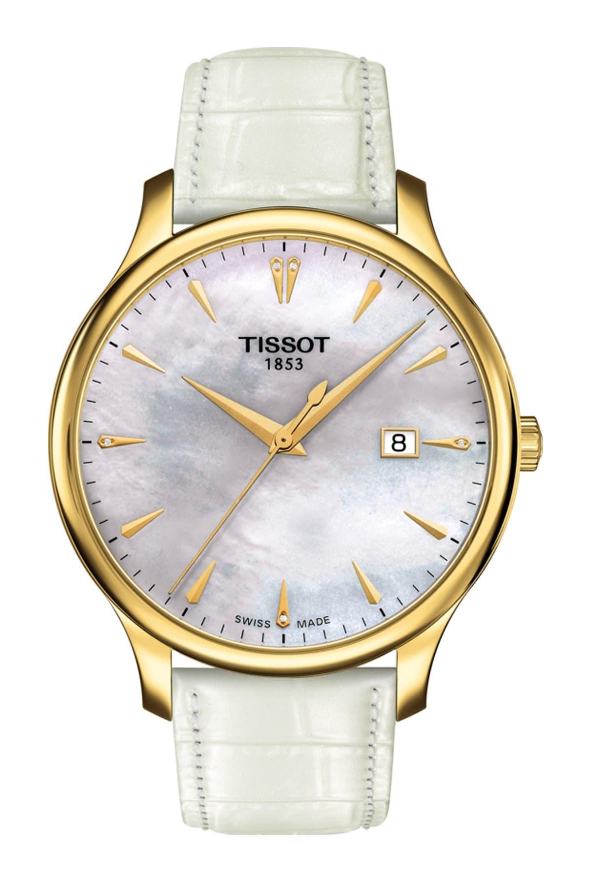 Image of Tissot Women's Tradition Diamond Watch, 42mm - 0.006 ctw