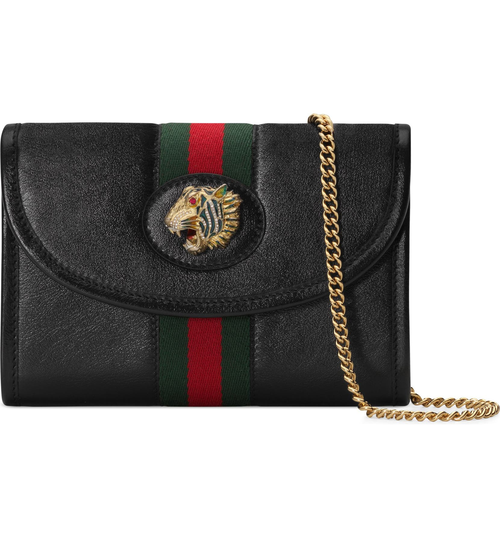 99eb1d98693b9f Gucci Mini Rajah Leather Crossbody Bag | Nordstrom