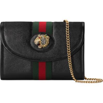 Gucci Mini Rajah Leather Crossbody Bag - Black