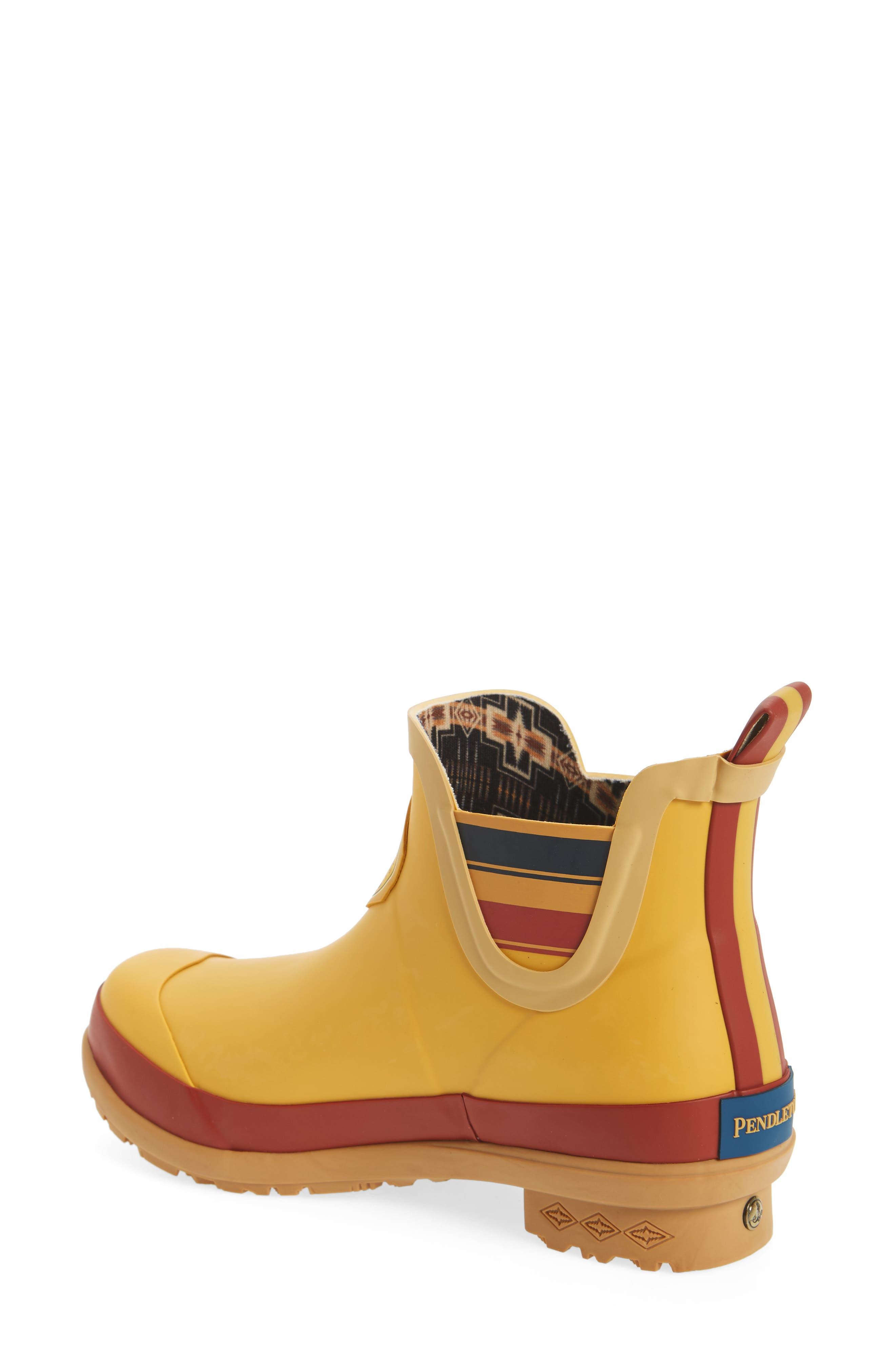 ,                             Yellowstone National Park Chelsea Waterproof Rain Boot,                             Alternate thumbnail 2, color,                             YELLOW