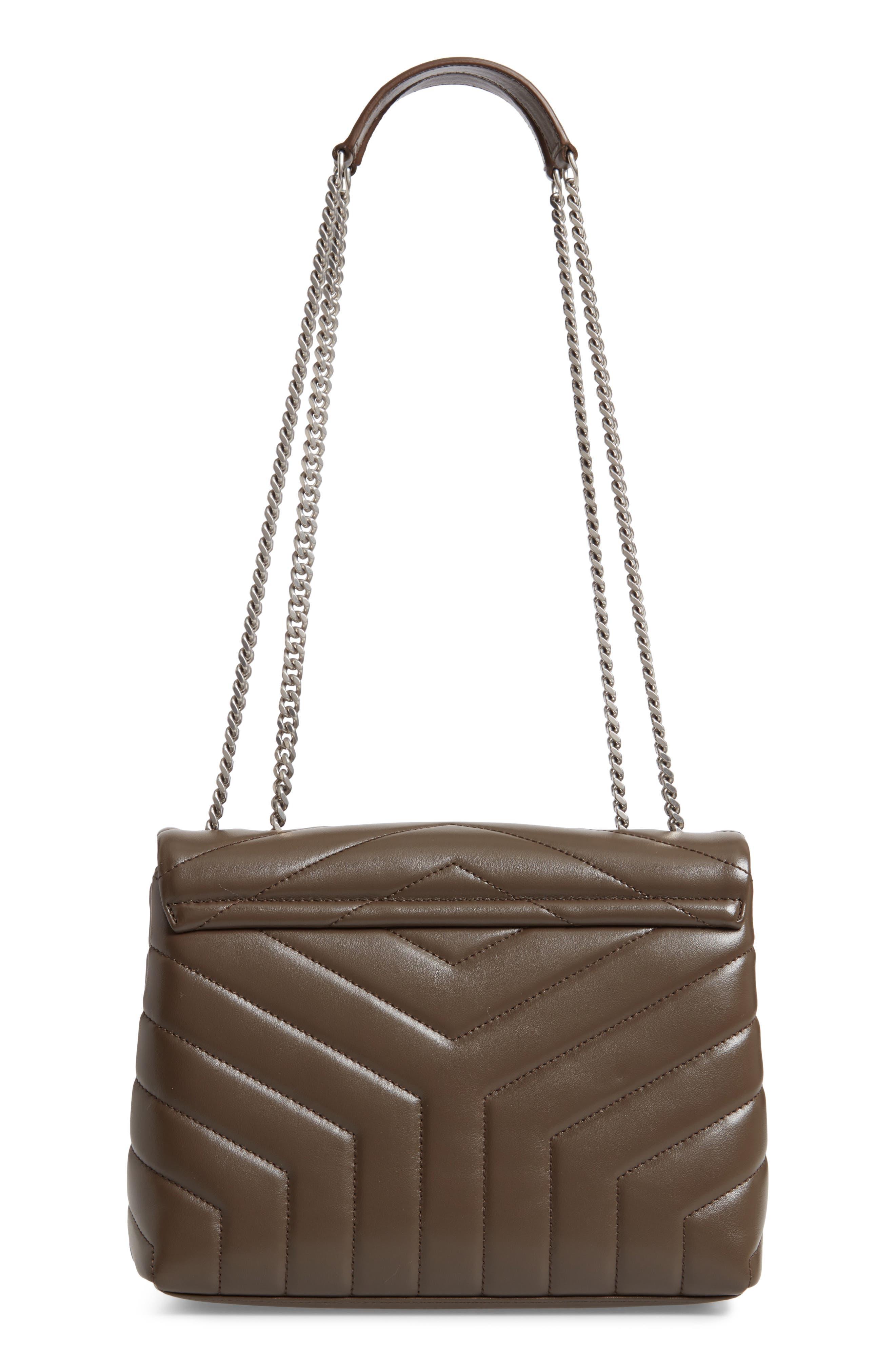,                             Small Loulou Matelassé Leather Shoulder Bag,                             Alternate thumbnail 3, color,                             FAGGIO/ FAGGIO
