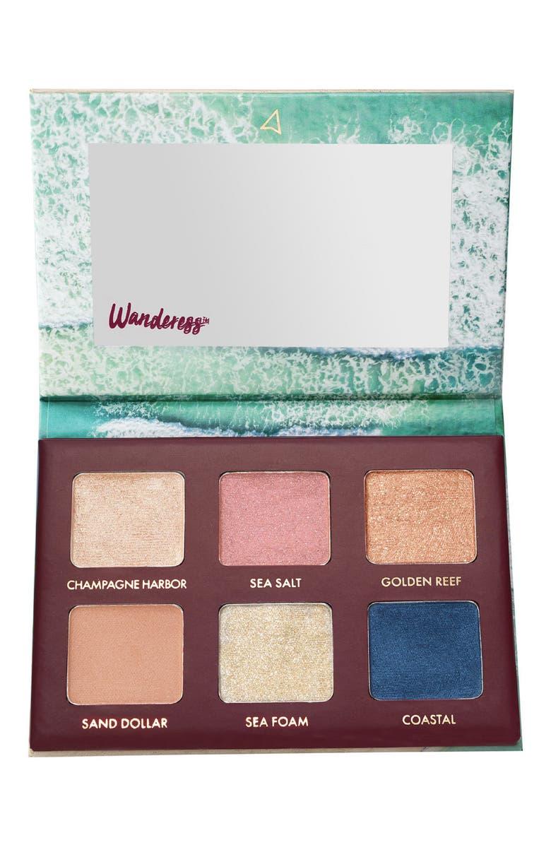 WANDER BEAUTY Wanderess Seascape Eyeshadow Palette, Main, color, 000