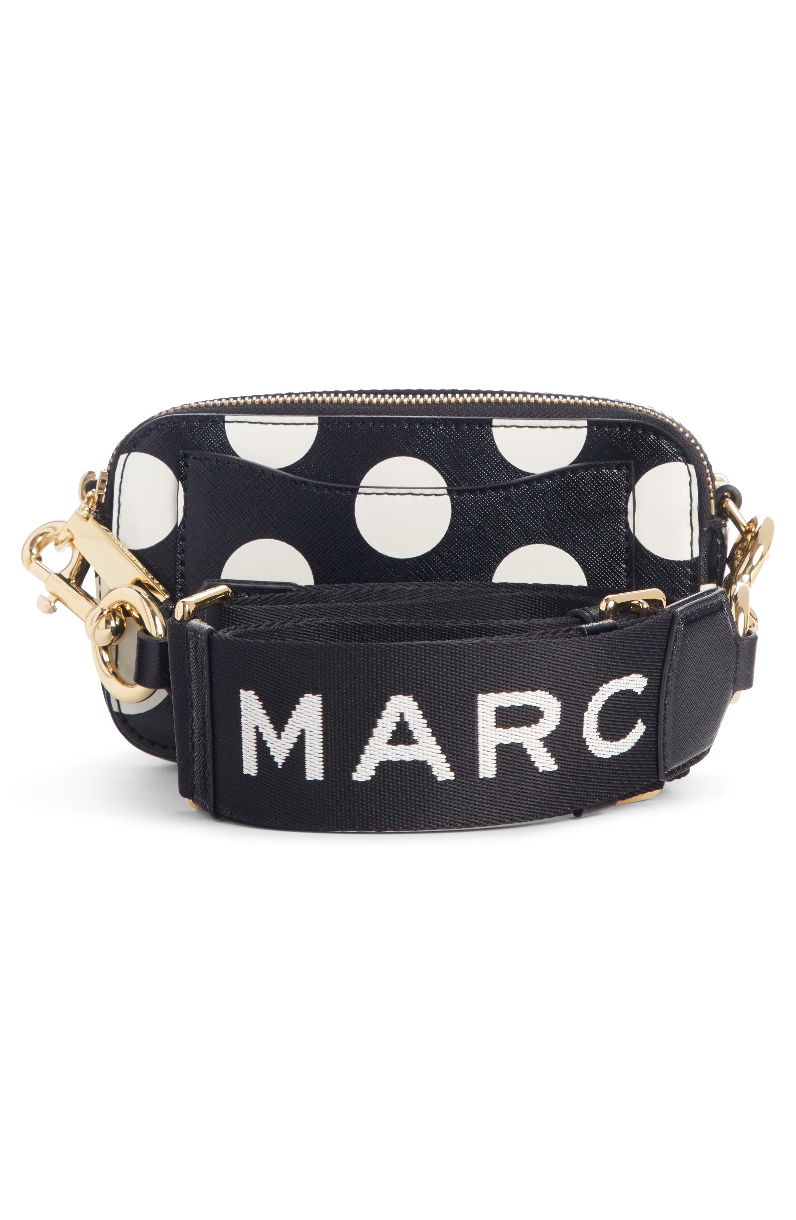 ,                             Dot Snapshot Leather Crossbody Bag,                             Alternate thumbnail 4, color,                             BLACK MULTI