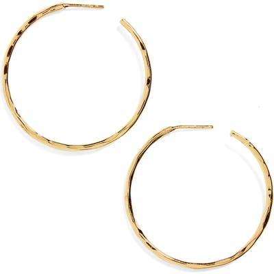 Argento Vivo Medium Hammered Hoop Earrings
