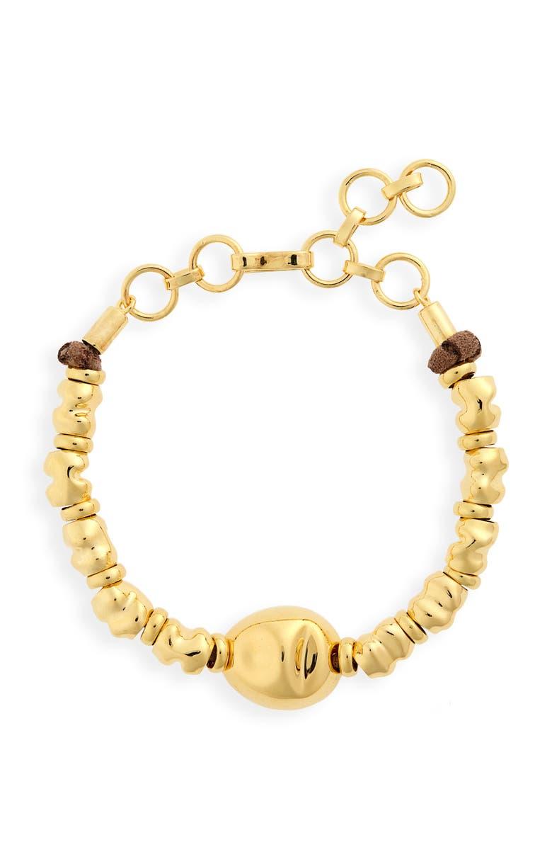 MONICA SORDO Puerto Bracelet, Main, color, GOLD