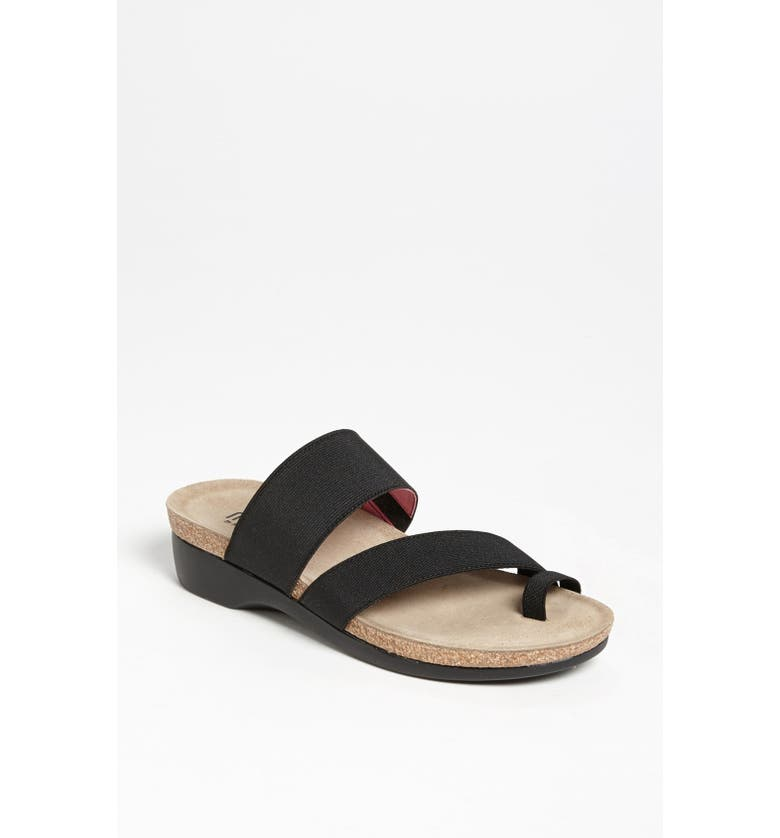 MUNRO 'Aries' Sandal, Main, color, BLACK