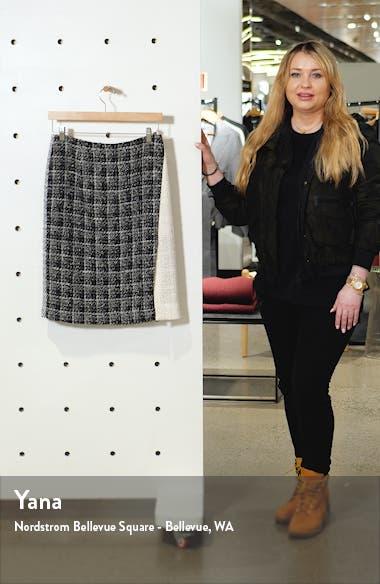 Colorblock Tweed Skirt, sales video thumbnail