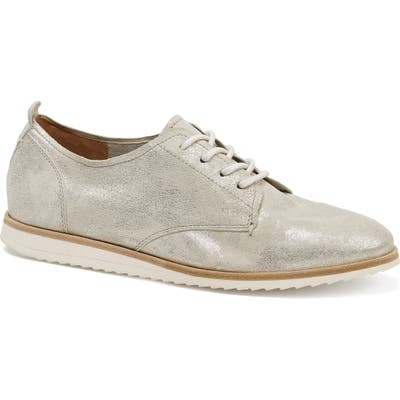 Trask Audrey Lace-Up Derby- Metallic