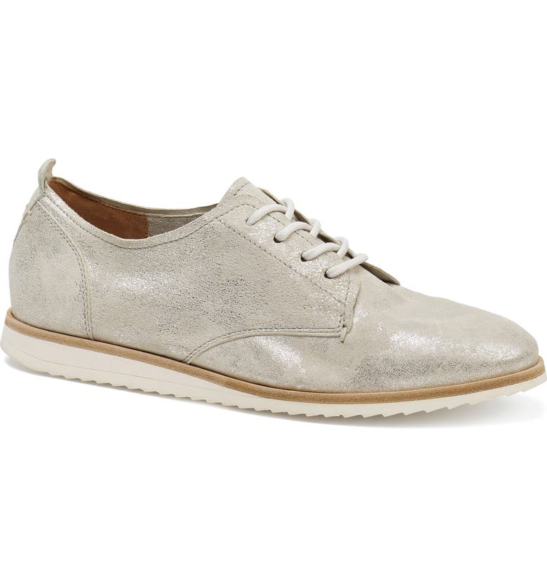 TRASK Audrey Lace-Up Derby, Main, color, IVORY METALLIC SUEDE