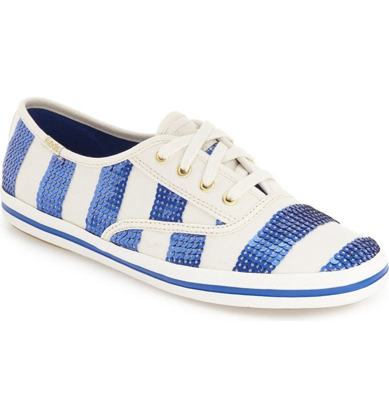 KEDS<SUP>®</SUP> FOR KATE SPADE NEW YORK 'kick' sequin stripe sneaker, Main, color, 421