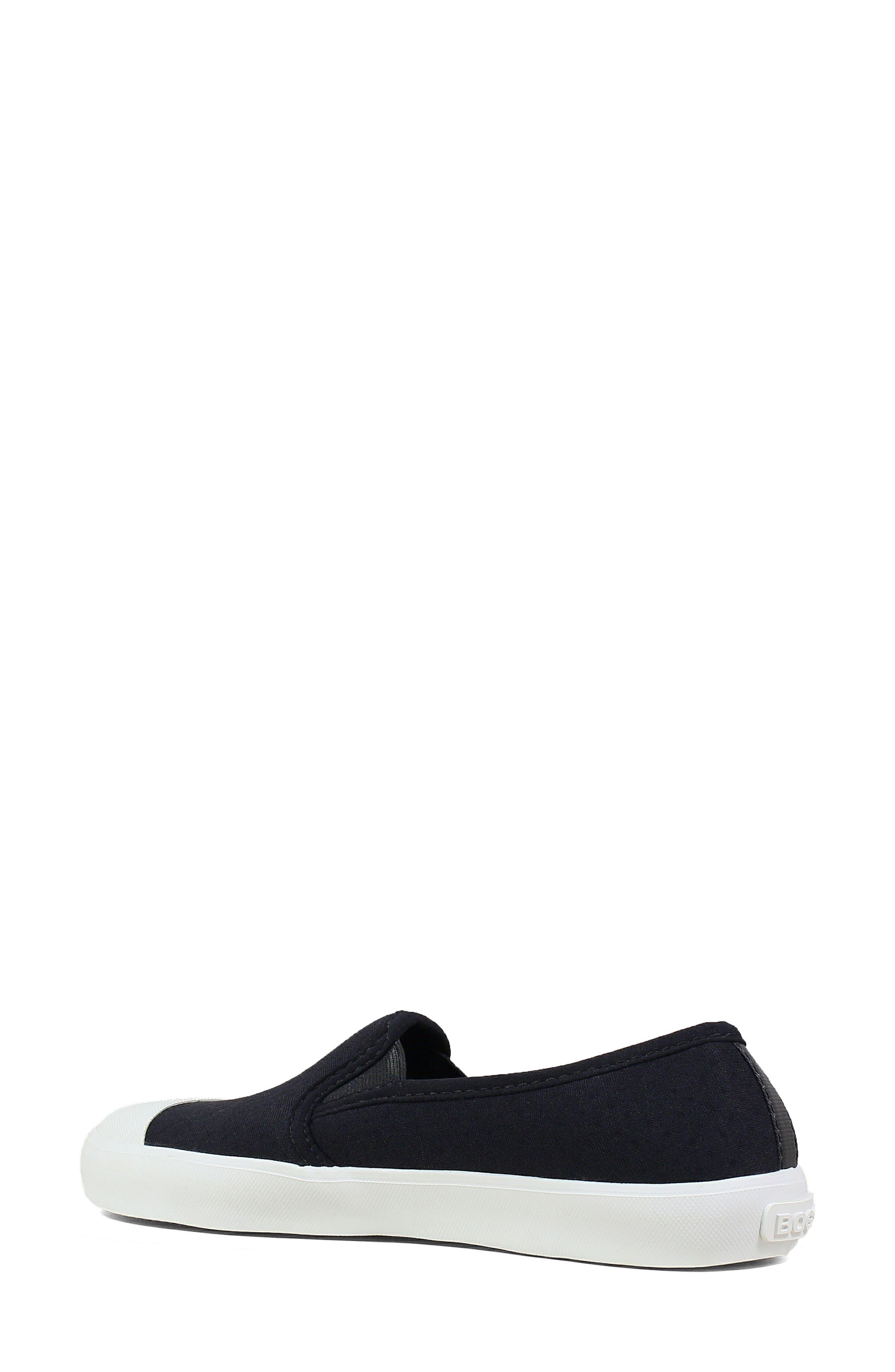 ,                             Kicker Slip-On Sneaker,                             Alternate thumbnail 2, color,                             BLACK CANVAS