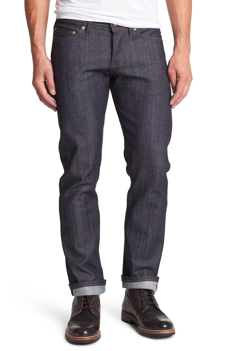NAKED & FAMOUS DENIM Weird Guy Slim Fit Raw Jeans, Main, color, STRETCH SELVEDGE