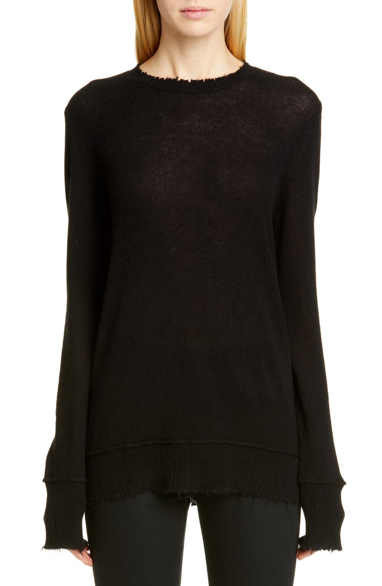 R13 Cashmere Sweater, Main, color, BLACK