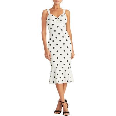 Rachel Rachel Roy Polka Dot Crepe Midi Dress