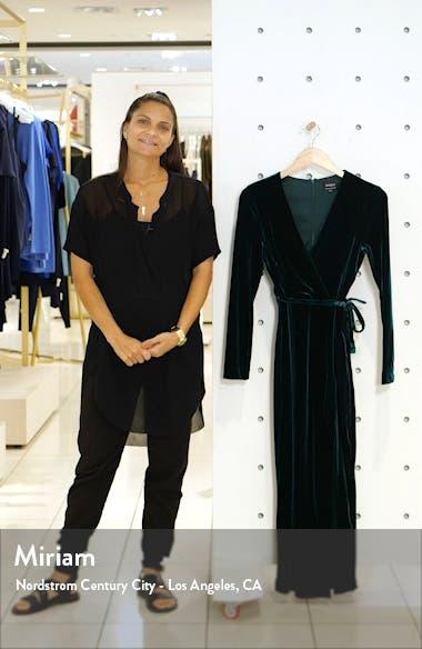 Morgan Long Sleeve Velvet Faux Wrap Dress, sales video thumbnail