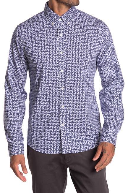 Image of Michael Kors Slim Fit Geo Print Shirt