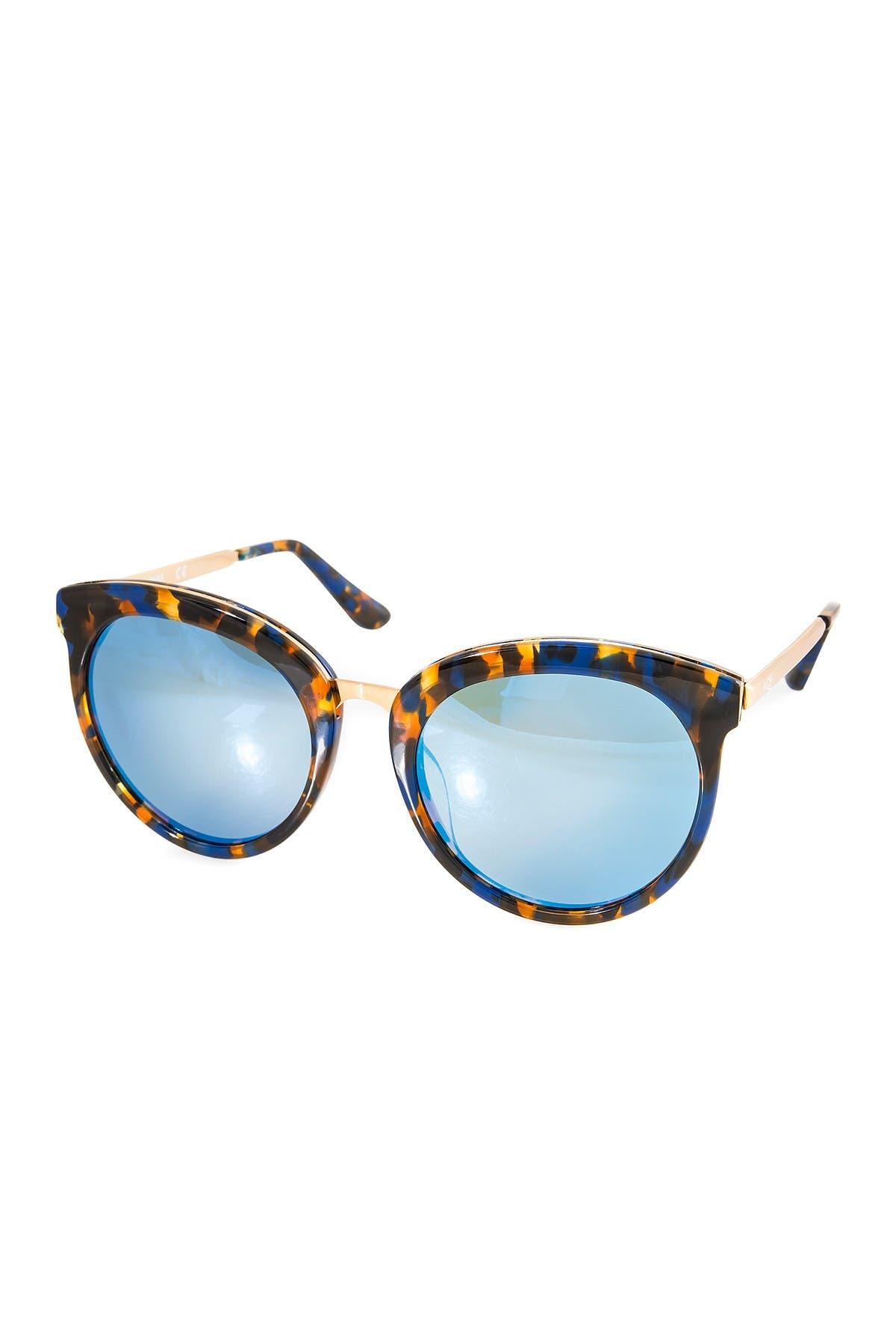 Image of AQS Poppy 54mm Round Sunglasses