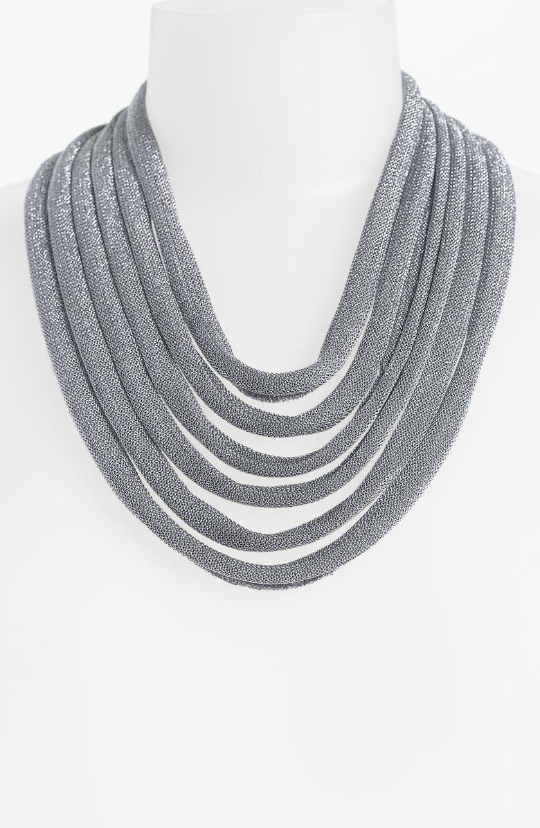 ADAMI & MARTUCCI 'Mesh' Multistrand Bib Necklace, Main, color, 040