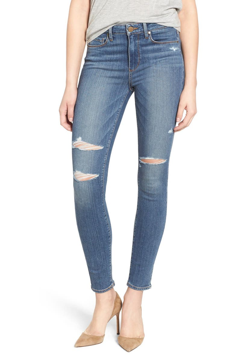 PAIGE 'Hoxton' High Rise Ultra Skinny Jeans, Main, color, 400