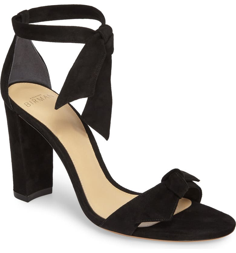 ALEXANDRE BIRMAN Clarita Knotted Sandal, Main, color, BLACK SUEDE
