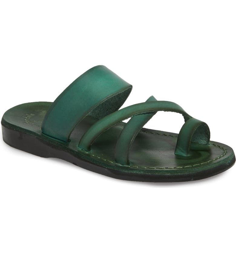JERUSALEM SANDALS The Good Shepherd Sandal, Main, color, GREEN LEATHER