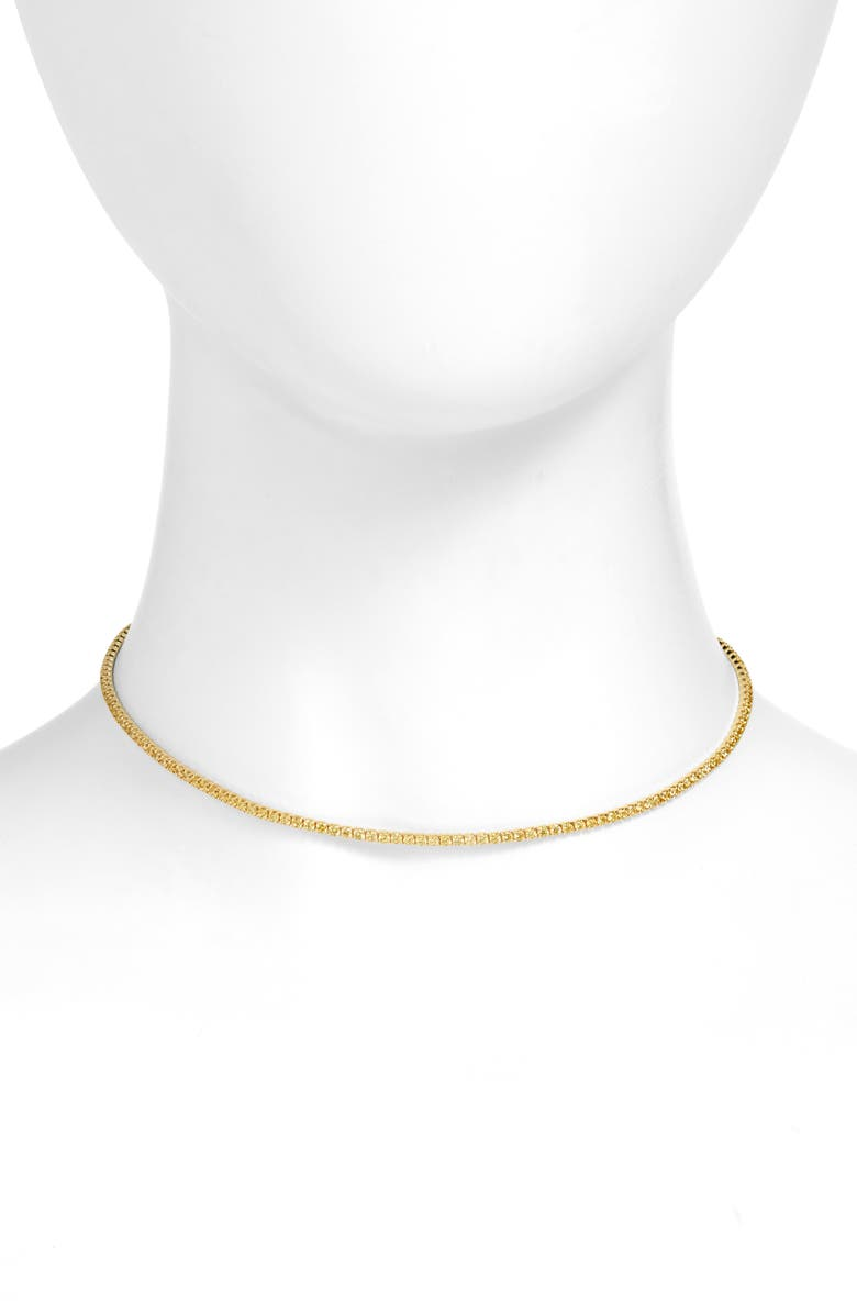ADINA'S JEWELS Adina's Jewels Pastel Tennis Choker Necklace, Main, color, TOPAZ YELLOW