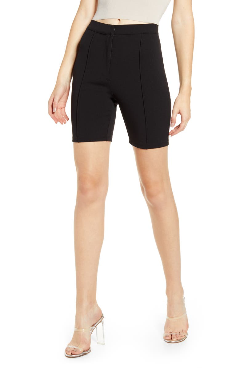 LEITH High Waist Bike Shorts, Main, color, 001