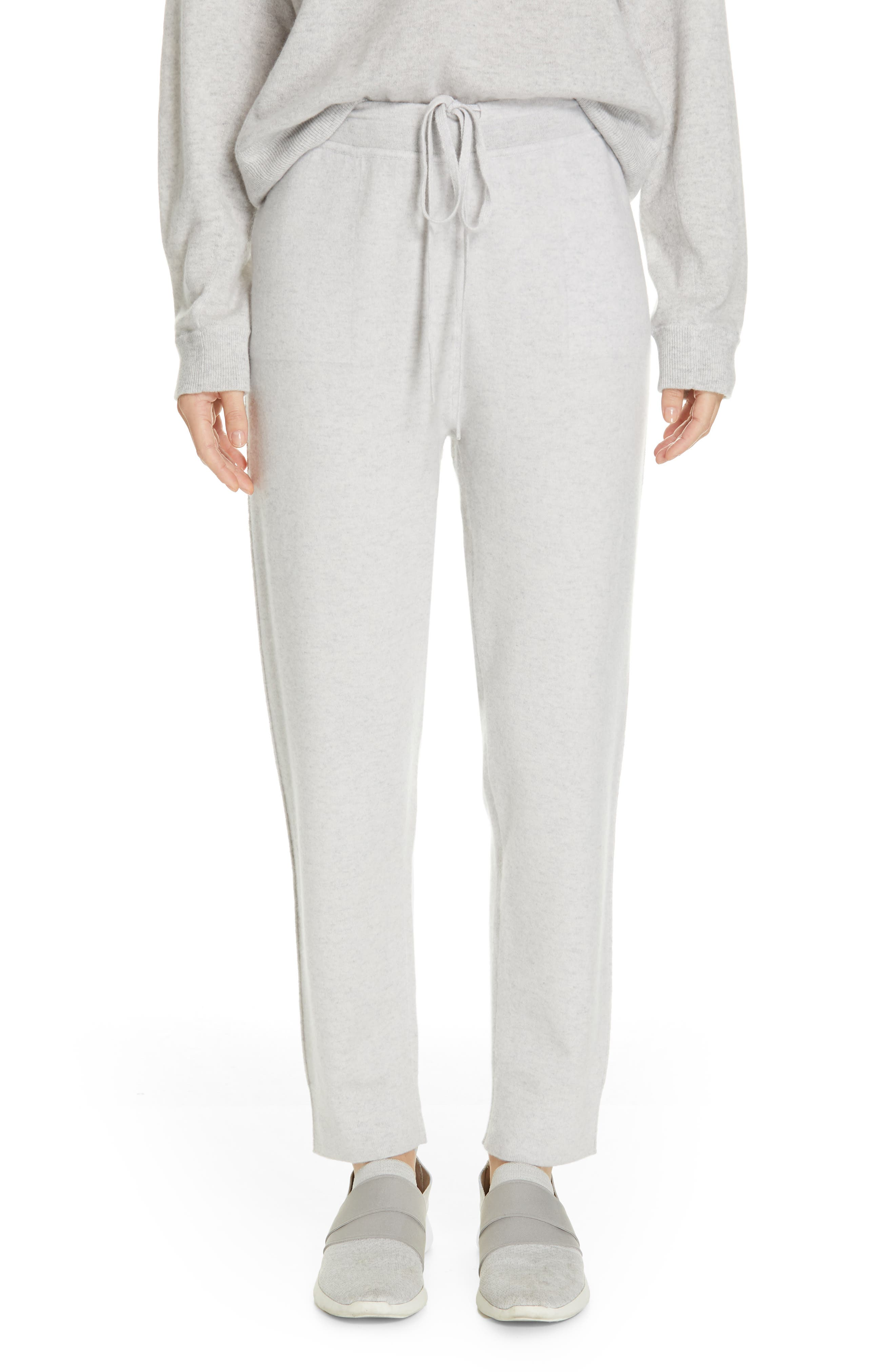 Slouch Jogger Pants, Main, color, LIGHT HEATHER GREY