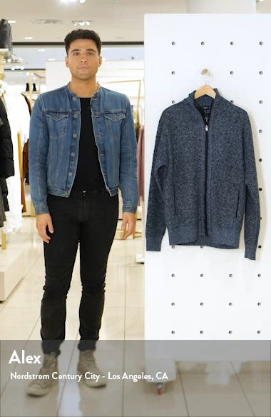 Parague Regular Fit Zip Front Sweater, sales video thumbnail