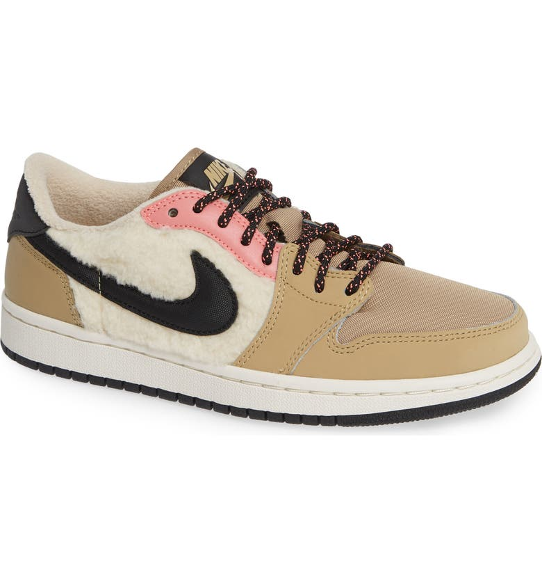 8be3b242abb Air Jordan 1 Retro Low OG Sneaker, Main, color, BEIGE/ BLACK/