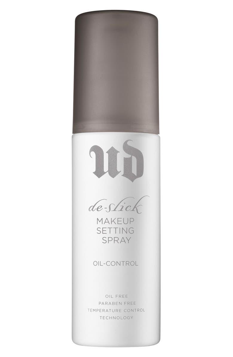 URBAN DECAY 'De-Slick' Oil Control Makeup Setting Spray, Main, color, 000