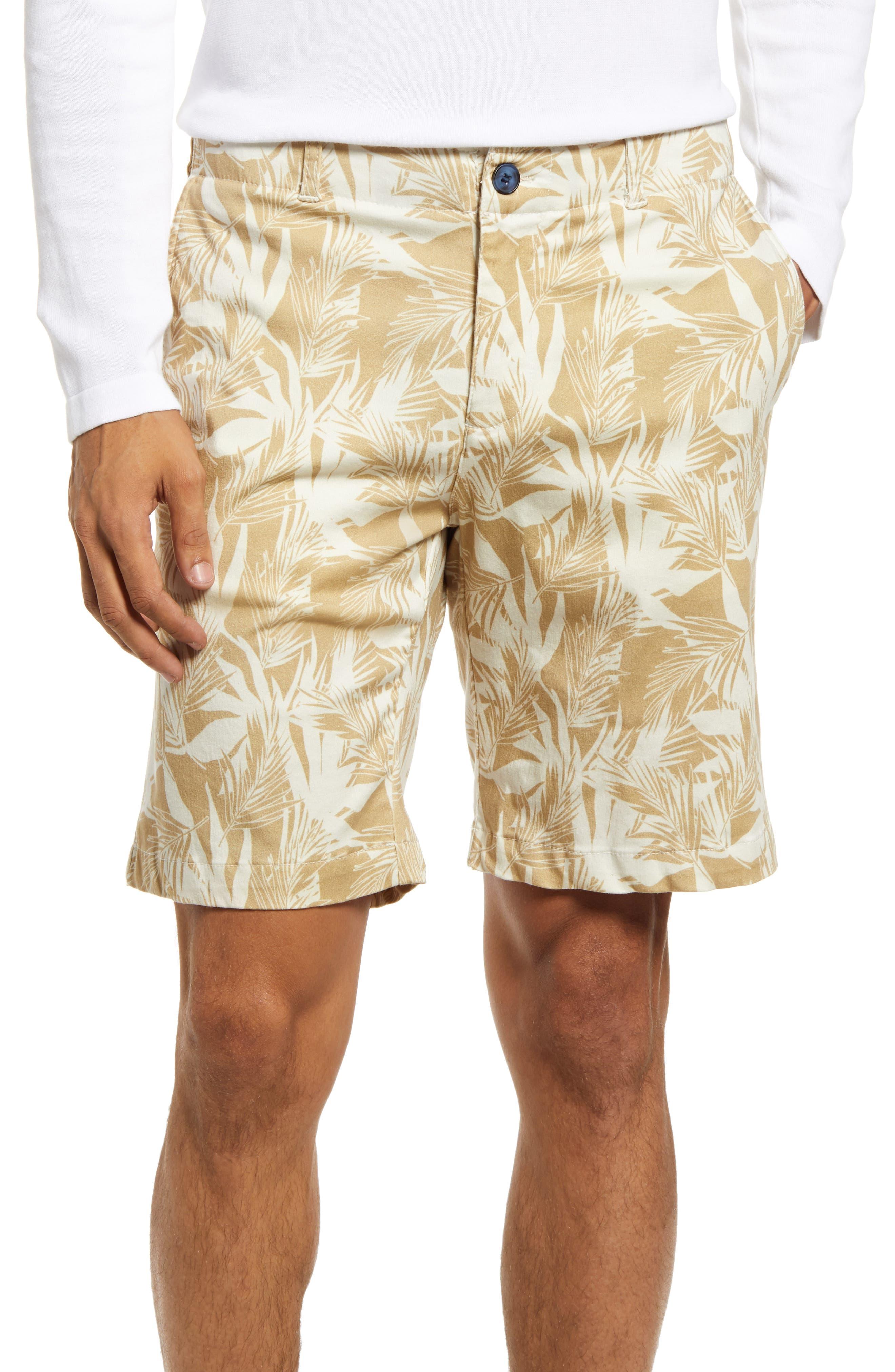 Print Chino Shorts
