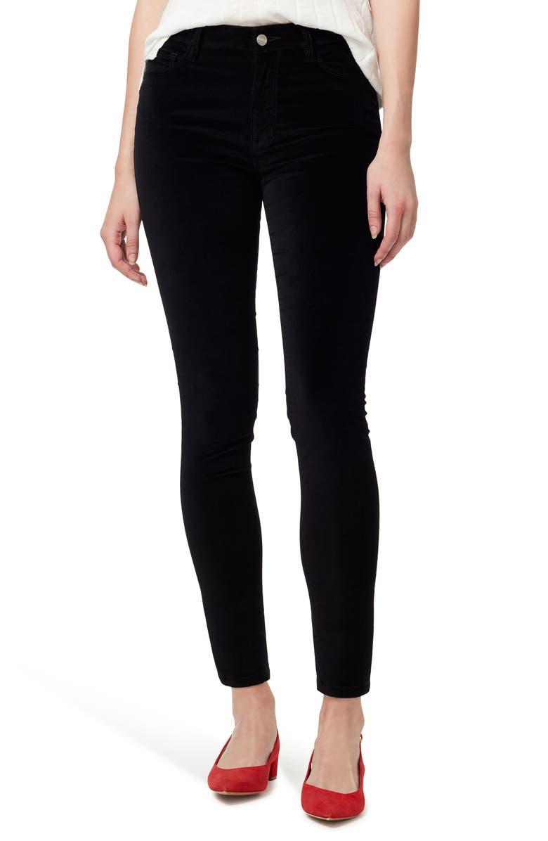 SANCTUARY Social Standard High Waist Ankle Skinny Jeans, Main, color, BLACK