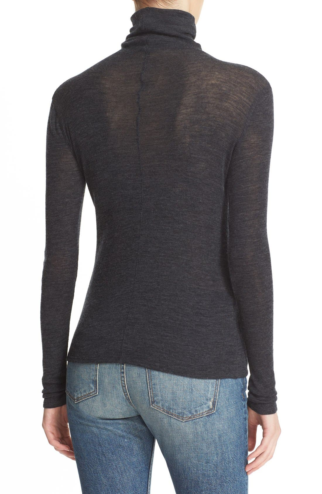 ,                             Lightweight Wool Funnel Neck Sweater,                             Alternate thumbnail 11, color,                             020