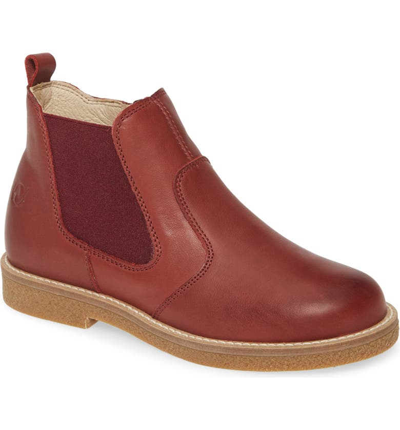 NATURINO Arthur Chelsea Boot, Main, color, BRICK RED LEATHER
