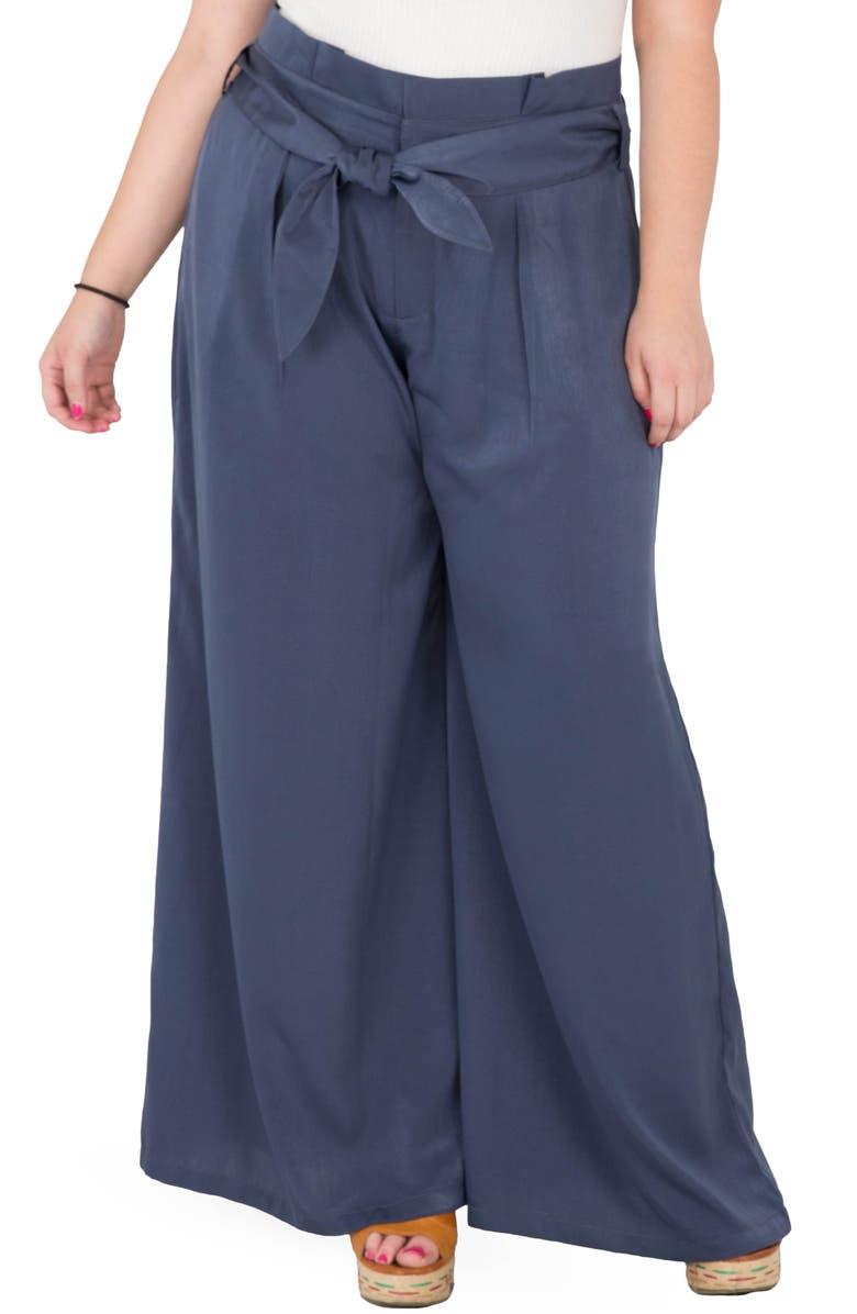 STANDARDS & PRACTICES Sue Wide Leg Pants, Main, color, NAVY