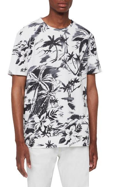 Image of ALLSAINTS Seabreeze Tropical Crew Neck T-Shirt