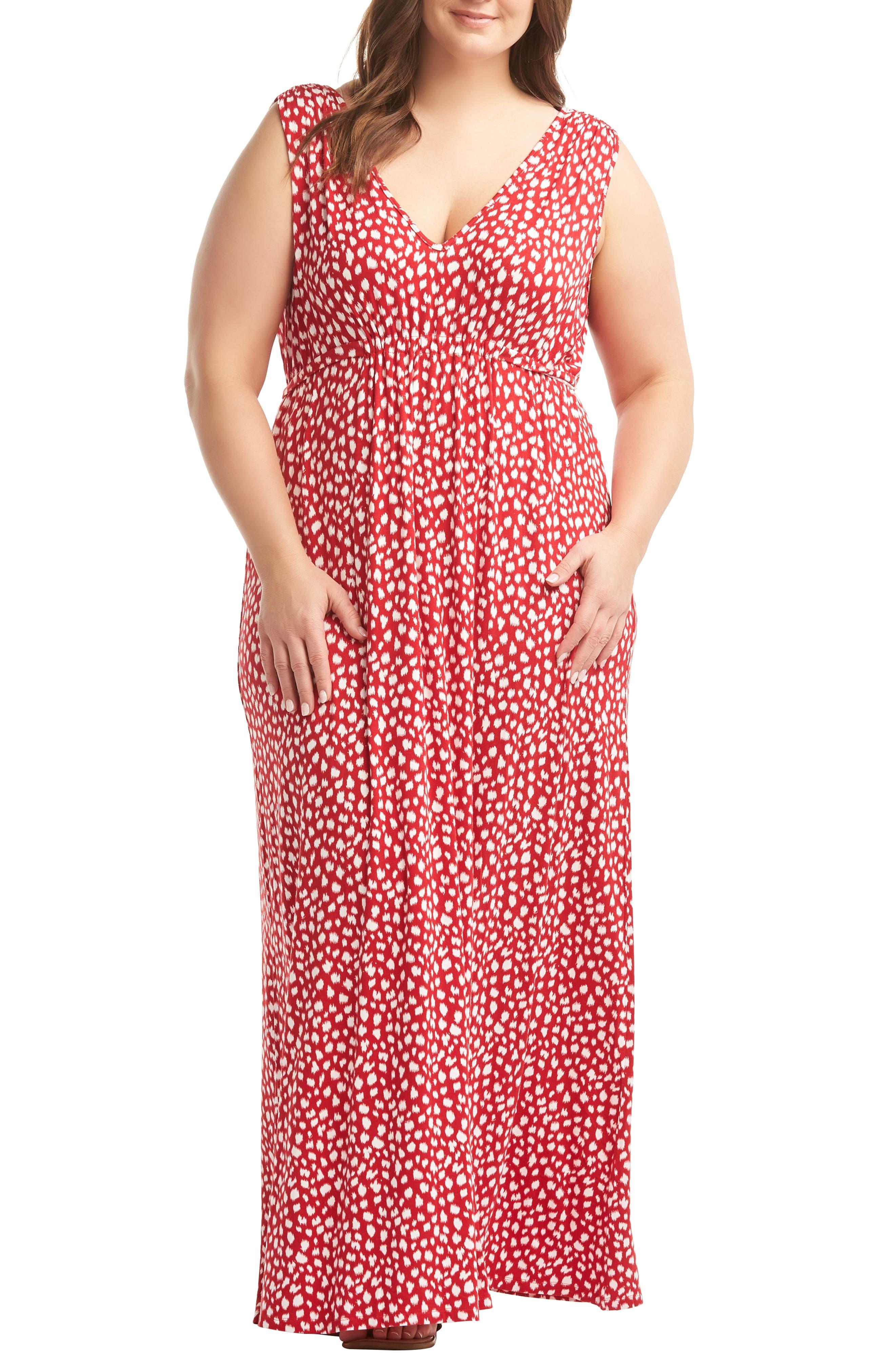 Plus Size Lemon Tart Grecia Maxi Dress, Brown